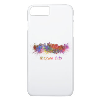 Mexico City skyline in watercolor iPhone 7 Plus Case