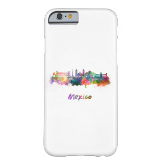 Mexico City V2 skyline in watercolor Barely There iPhone 6 Case
