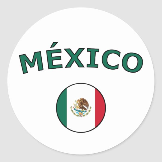 Mexico Classic Round Sticker