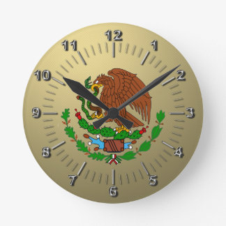 Mexico Coat arms Round Clock