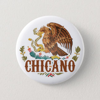 Mexico Coat of Arms Chicano 2 Inch Round Button