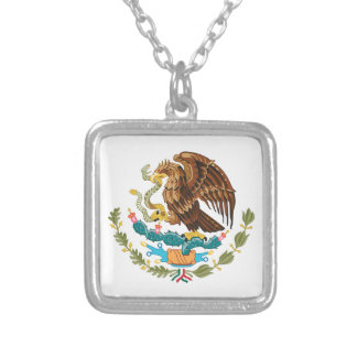 Mexico Coat Of Arms Silver Plated Necklace