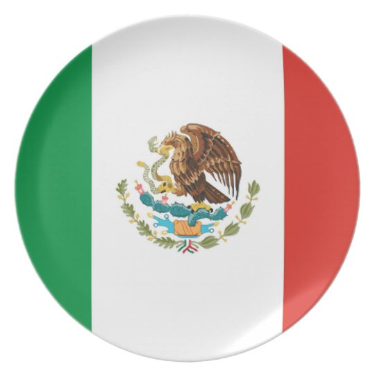 mexico country flag plate