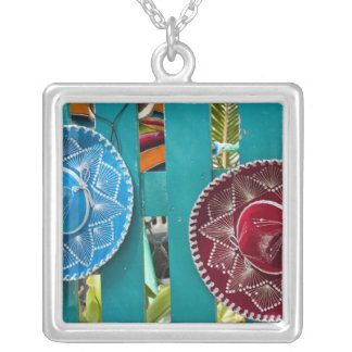 Mexico, Cozumel. Souvenirs in Isla de Cozumel Silver Plated Necklace