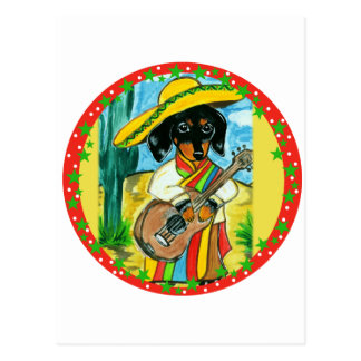 MEXICO DACHSHUND POSTCARD