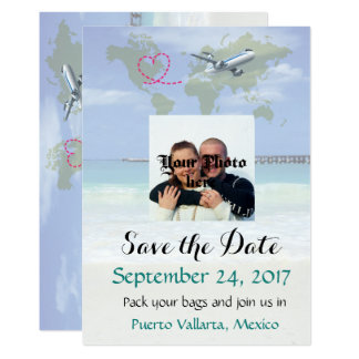 Mexico Destination Wedding Save the Date Card