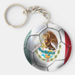 Mexico el Tri soccer ball Mexican flag gear Key Chain