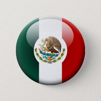 Mexico Flag 2.0 2 Inch Round Button