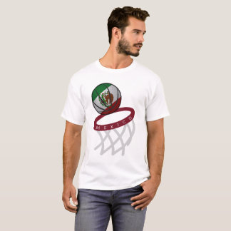 Mexico Flag Basketball Hoop T-Shirt