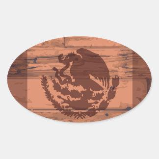 Mexico Flag Brand Oval Sticker