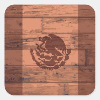 Mexico Flag Brand Square Sticker