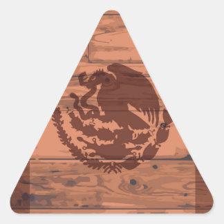 Mexico Flag Brand Triangle Sticker