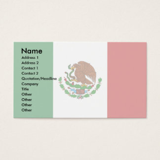 Mexico Flag Business Card