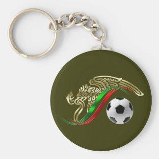 Mexico flag emblem Soccer futbol Logo Basic Round Button Keychain
