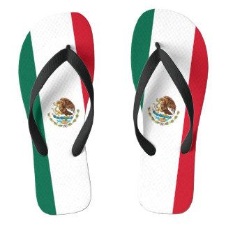 Mexico Flag Flip Flops