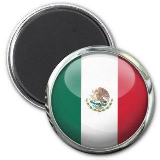 Mexico Flag Glass Ball Magnet