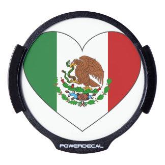 Mexico Flag Heart LED Auto Decal