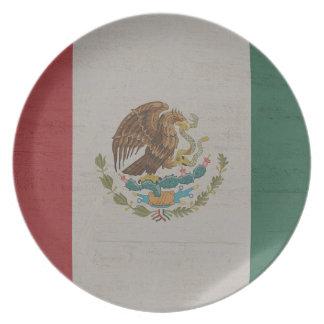 Mexico Flag International Plate