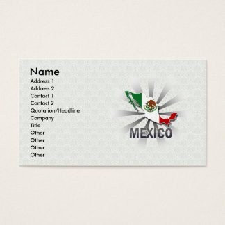 Mexico Flag Map 2.0 Business Card
