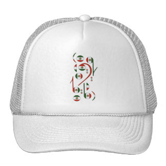 Mexico Flag Music Notes Trucker Hat