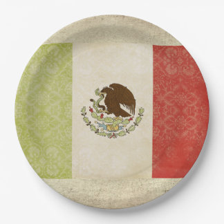 Mexico Flag Paper Plates