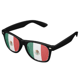 Mexico Flag Retro Sunglasses
