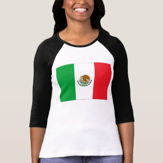 Mexico Flag T-Shirt Mexican Flag Woman's