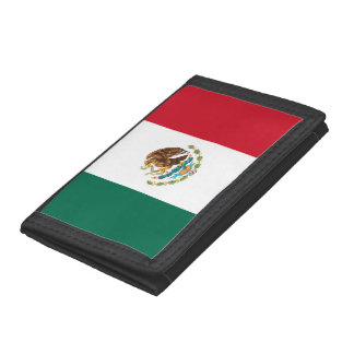 Mexico Flag Tri-fold Wallets