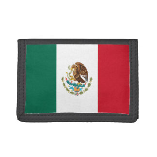 Mexico Flag TriFold Nylon Wallet