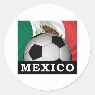 Mexico Football Classic Round Sticker