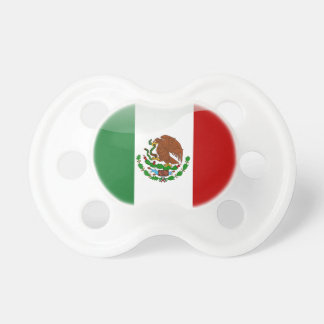 Mexico glossy flag pacifier