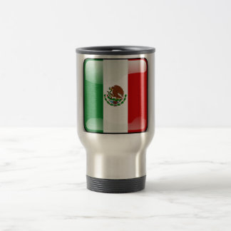Mexico glossy flag travel mug
