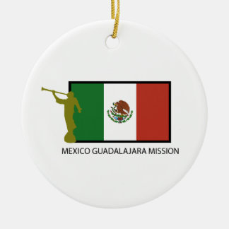 MEXICO GUADALAJARA MISSION LDS CTR ROUND CERAMIC ORNAMENT