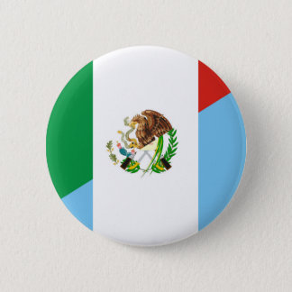 mexico guatemala half flag country symbol 2 inch round button