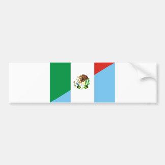mexico guatemala half flag country symbol bumper sticker