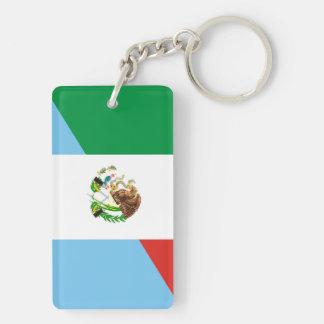mexico guatemala half flag country symbol keychain