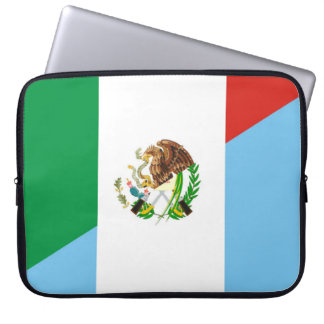 mexico guatemala half flag country symbol laptop sleeve