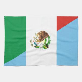 mexico guatemala half flag country symbol towel