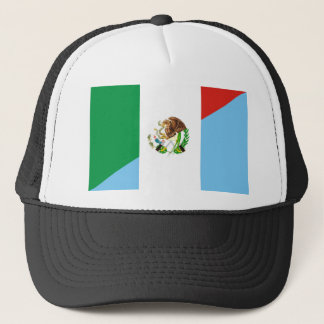 mexico guatemala half flag country symbol trucker hat