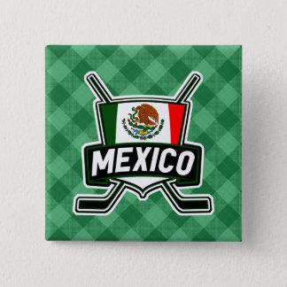 Mexico Ice Hockey Flag Badge Hockey Pin
