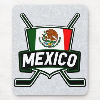 Mexico Ice Hockey Flag Mousemat Mouse Pad