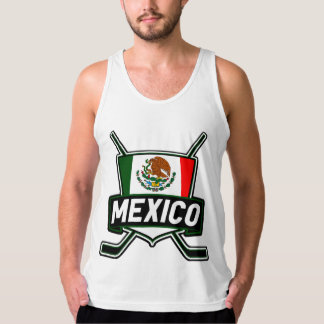 Mexico Ice Hockey Flag Tank Top