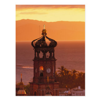 Mexico, Jalisco, Puerto Vallarta. Church tower Postcard