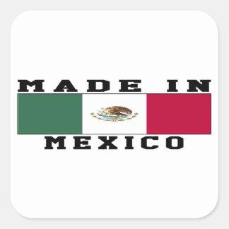 Mexico Made In Designs Square Sticker