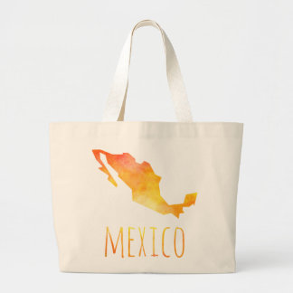 Mexico Map Large Tote Bag