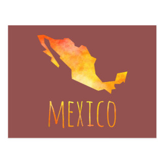 Mexico Map Postcard