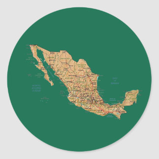 Mexico Map Sticker