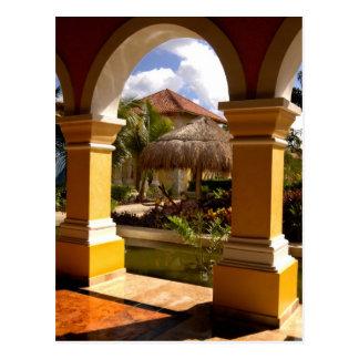 Mexico, Mayan Riviera, architecture at Iberostar Postcard