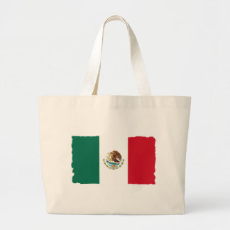 Mexico Mexican Flag Large Tote Bag