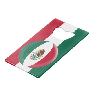 Mexico Mexican Flag Wallet Bottle Opener